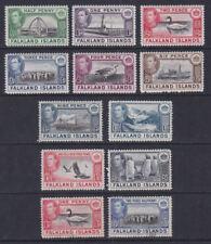 Falkland Islands 1938 Mint MLH Part Set Definitives King George VI 10 values