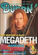 Burrn! Heavy Metal Magazine August 2004 Japan Megadeth Kiss Scorpions