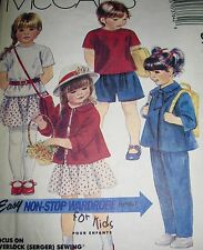 McCALL'S PATTERN 3764 CHILDS' JACKET TOP SKIRT PANTS SHORTS  (Size 4) COMPLETE!