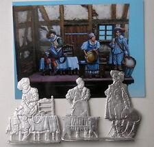 Kleinserie In der Taverne top Gravur 54mm Zinnfigur Flachfigur Flat Figure