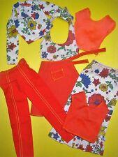Vtg Barbie Superstar BEST BUY 70s Doll Clothes Lot SEARS Floral Set 1976 9662 #1