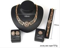 Lady Lion Head Style Fashion Party Jewelry Set Necklace Earring Ring Bracelet
