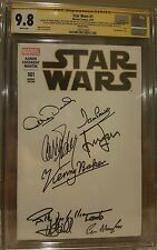 Star Wars #1 blank__CGC 9.8 SS__Signed by Ford, Hamill, Fisher, Baker + 6 more