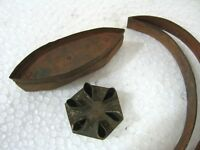 ANTIQUE IRON COOKIE CUTTERS , LOT OF THREE