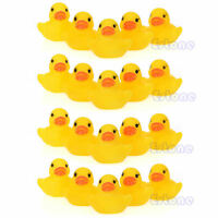 20 pcs Baby Kids Children Bath Toy Cute Rubber Race Squeaky Duck Ducky Yellow