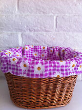 BICYCLE BASKET LINER PURPLE DAISY BEACH CRUISER LOWRIDER MBX MTB ROAD CYCLING