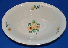 "Beautiful Pickard China - 9 1/2"" Oval Vegetable Bowl - Bouquet Pattern # 1050"