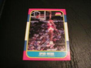 1986 FLEER SPUD WEBB ROOKIE CARD #120-ATLANTA HAWKS NEAR MINT-FLEER PREMIER