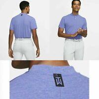 Nike Tiger Woods TW Golf Shirt Aeroreact Vapor Blade BV1315-554 Purple Size XL