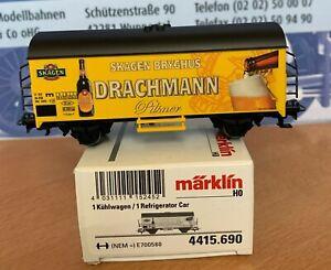"""Märklin 4415.690 Kühlwagen """"Drachmann"""" Sondermodell für Dänemark, Spur H0"""