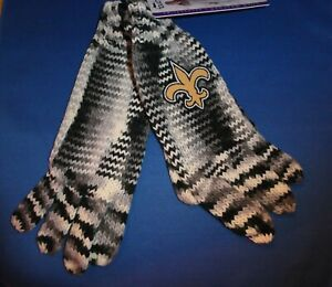 NET Orleans Saints NFL Touch by Alyssa Milano NFL Gray Heather Knit Gloves