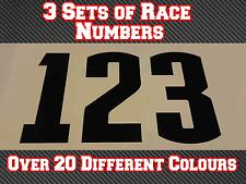 """3 conjuntos de 11"""" 280 mm Custom Race Números Pegatinas De Vinilo Calcomanías MX Motocross Bici N32"""