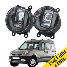 2Pcs LED Daytime Running Lights Aluminum Cover Fog Lamp Fit For Renault Kangoo