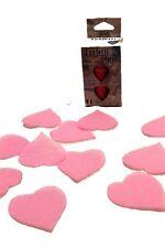 Confettis de scène en forme de coeur rose 100 grammes papier de soie 22709