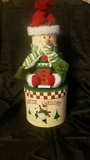 """Nesting CHRISTMAS TREAT BOXES -3 ROUND Boxes - Stack to form 18"""" SNOWMAN"""