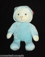 Aurora Baby Embroidery Blue Bear with Hoodie (17319) NEW!