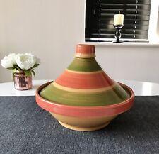 Large Handpainted 27cm Ceramic Tureen With Lid