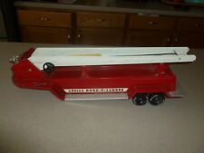 Vintage Nylint Hook Ladder Fire Truck Trailer Red Pressed Steel