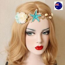 Women Girl Ariel Sea star Shell Costume Party Hair Headband Band PROP Garland
