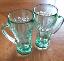 Vintage Libbey Coca-Cola 12 oz. Mugs, Thick glass w/green tint