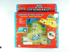 MICRO ACTION Off Road Rally folding play set 1989 FunRise Magnifiers car machine