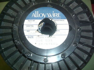 STAINLESS STEEL WIRE .2.00MM X 0.25MM 316 531 ALLOYWIRE INTERNATIONAL 3.65 KILOS