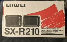 New In Box Aiwa Model SX-R210 40 Watts Surround Sound 2 Speaker Set - Black