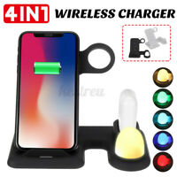 4 in1 Wireless Charger Charging Stand For Apple Watch Airpod Phone With  F K