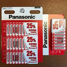 40 x AAA Genuine PANASONIC Zinc Carbon Batteries - New LR03 1.5V MN2400