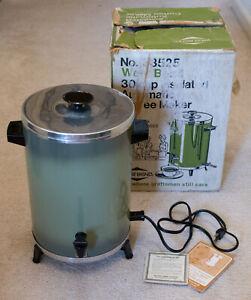 West Bend Vintage 12-30 Cup Electric Coffee Maker Percolator Avocado Green Retro