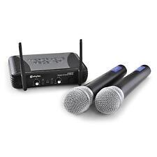 Skytec Stwm722 UHF Wireless Microphone System Set 2 Mics Radio Receiver DJ PA