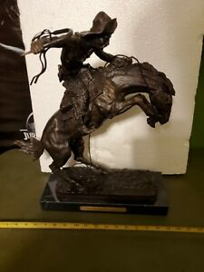 """Frederic Remington """"The Bronco Buster"""" Bronze Statue, LIMITED EDITION, horse"""