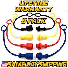 (8 Pack) Hydraulic Cap & Plug 3/8 Replaces Deere 385A 447 448 485 485A