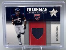 2003 ANDRE JOHNSON GAME WORN JERSEY ROOKIE LEAF FOOTBALL CARD HOUSTON TEXANS RC