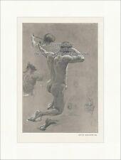 Bogenschütze Studie Otto Greiner Akt Lithographie Skizzen Die Kunst 016
