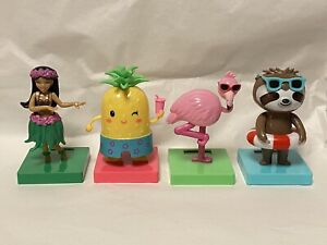 Solar Powered Dancing Bobblehead Toy New  For 2021 - Set 4 Summer Cuties