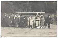 BM391 Carte Photo vintage card RPPC Camion Bus Auto car Sables d'olonne Astra