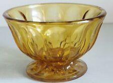 Vintage Amber Depression Glass Cand Dish Bowl