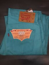 LEVIS 501 Shrink To Fit Blue 32 X 34 Button Fly Men's Raw Denim Jeans NWT Leg