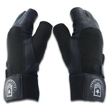 Elite Body Squad Weight Lifting Exercise Gloves Black Leather Size Small