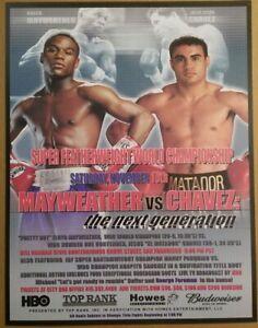 Floyd Mayweather Jr vs Julio Cesar Chavez mini fight poster