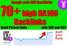 Backlinks: 70+ High DA PA bis zu DA100 Backlinks Top für Seo