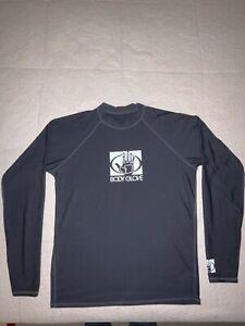 Body Glove Long Sleave Logo Rash Gaurd Surf Ware UVP 50 Size Large Black READ⬇️