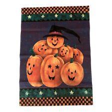 "Halloween House Flag Jack-O-Lanterns Double Sided Durable 100% Nylon 39""x27"""