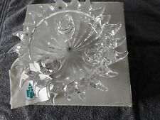AURORA 24% LEAD CRYSTAL 3 CANDLE HOLDER BY PARTYLITE NEW BOXED