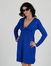 Lange Markenlose Damen-Pullover & -Strickware mit V-Ausschnitt ohne Muster