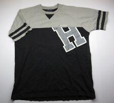90s VTG Grey/Black TOMMY HILFIGER Sport T-Shirt Adult Men's Shirt SPELL OUT logo