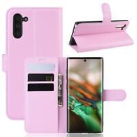 Samsung Galaxy Note10 Handy Hülle Schutzhülle Tasche Flip Case Etui Cover Rosa