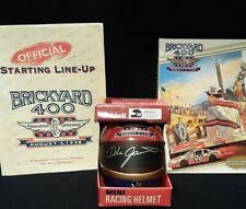 Dale Jarrett signed 1996 Brickyard 400 Mini Helmet and Official Program