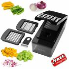 Onion Slicer Dicer Vegetable Cutter Kitchen Food Chopper Black Container Fruit
